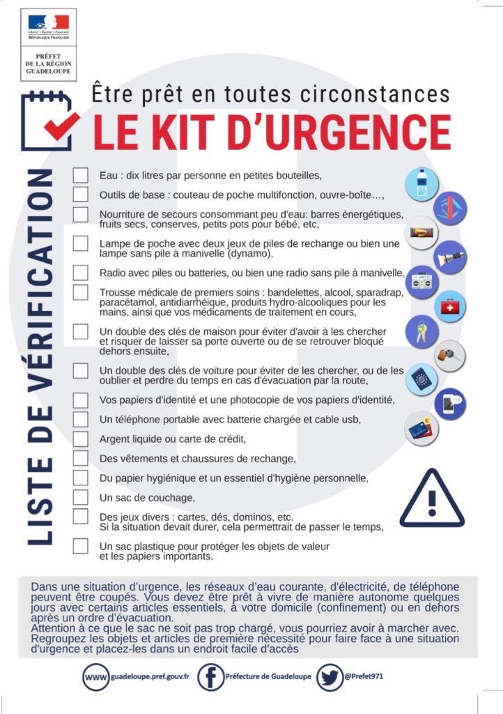 kit d'urgence cyclone